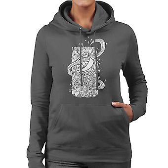 Pepsi White Doodle Can Women's Hooded Sweatshirt
