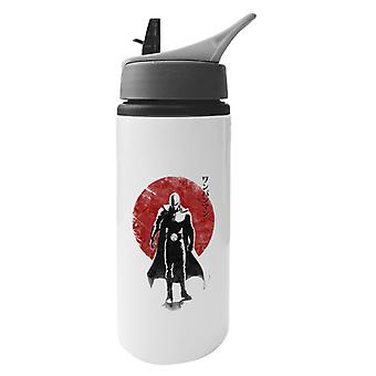 One Punch Hero Aluminium Water Bottle With Straw