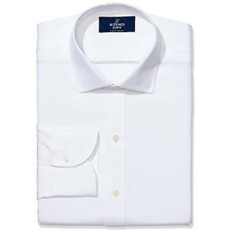 KNAPPET NED menn's Slim Fit Spread-Collar non-iron dress skjorte (ingen lomme), ...