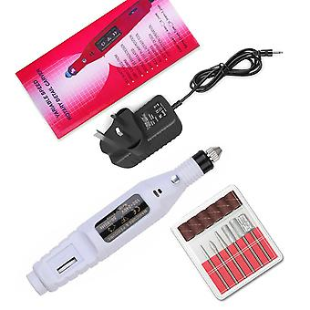 9W Nail Pen Shape Electric Manicure Drill Machine File Bits UV Gel Polish Tool