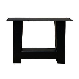 Ensemble de pieds de table A noirs de 40 cm avec pieds ajustés (manche 8 x 8) (1 pièce)