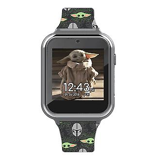 Accutime Star Wars Barnet fra The Mandalorian All Over Print Interactive Kids Watch