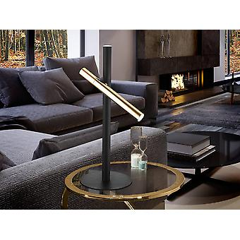 Schuller Varas - Lampada da tavolo luminosa LED 2 integrata Nero opaco, oro