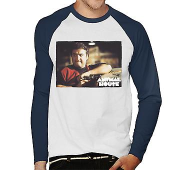 Animal House John Bluto Blutarsky Wearing Red Top Men's Baseball Long Sleeved T-Shirt