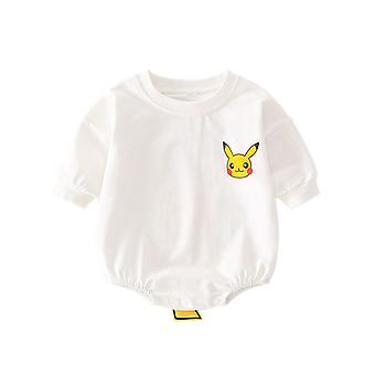 Baby Cotton Romper Crewneck Long Sleeves One Piece
