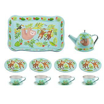 Sloth & Friends Tea Party Childrens Picnic Box Tea Set