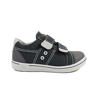 Ricosta Nippy 2623000-482 grau Leder jungen Rip Tape Casual Schuhe