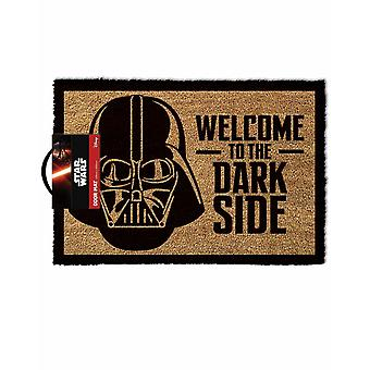 Star Wars Doormat | Welcome To The Darkside Home Mat Gift | Brown Coir Homeware One Size