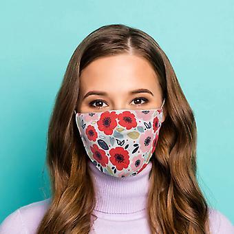 Poppy Fields herbruikbare gezichtsbedekking - Groot X 1-pakket