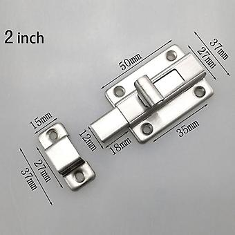 2/2.5/3/4inch puerta de acero inoxidable perno de cierre hasp grapadora cerradura de la puerta para baño