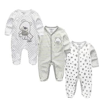 Baby Cotton Sleepers Full Sleeve O-neck 0-12m Newborn Boys&girls Roupas Clothes