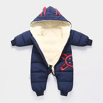 Newborn Baby Winter Jumpsuit Plus Velvet Snowsuit Snow Wear Coat Boy Warm Romper Bodysuit