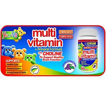 Dulce Probiotics Multi-Vitamin Plus Multi-Mineral Fornula, Grape 60 Chews