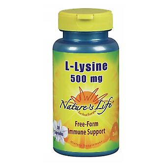Nature's Life L-Lysine, 500 mg, 50 caps