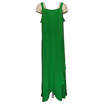 BROOKE SHIELDS Tijdloze jurk mouwloze maxi lengte green A307769