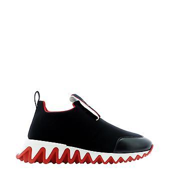 Christian Louboutin 3201193bk01 Women's Black Nylon Slip On Sneakers