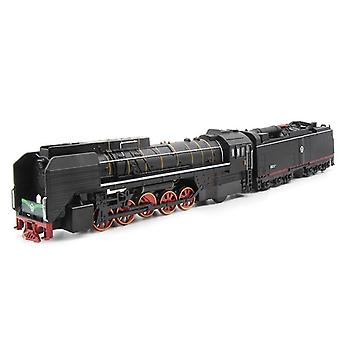 Steam Train Locomotive Alloy Model Cars Pull Back Sound Light For (random Color