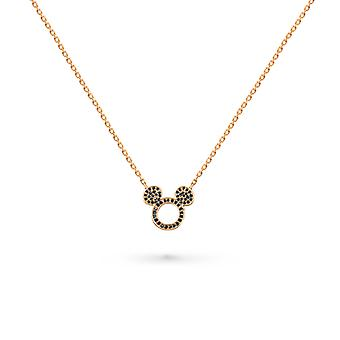 Colar Mickey Black Diamonds e 18K Gold