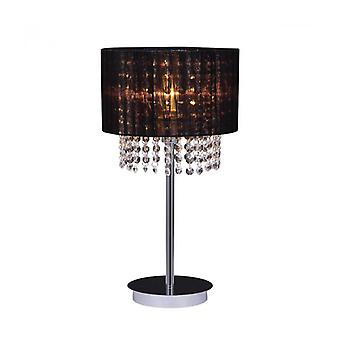 Astra Bk Crystal Desk Lamp Preto