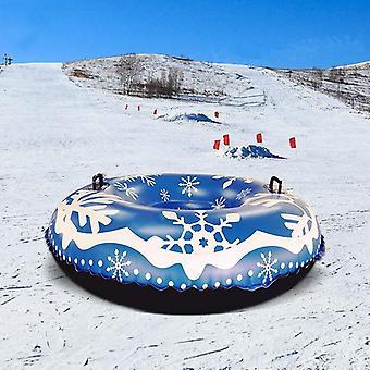 فصل الشتاء نفخ دائرة التزلج مع التعامل مع دائم للبالغين التزلج أنبوب الثلج