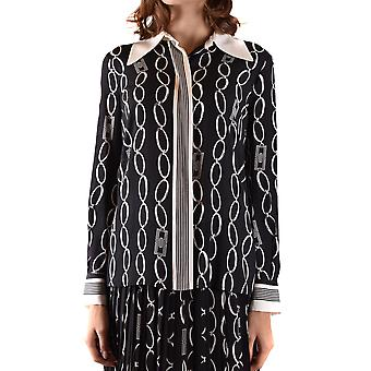 Elisabetta Franchi Ezbc050235 Women's Black Viscose Shirt