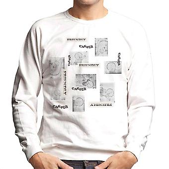 Casper The Friendly Ghost Cartoon Frame Montage Men's Sweatshirt