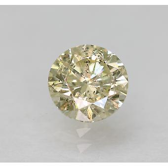 認定 0.60 カラット K SI1 ラウンド ブリリアント エンハンスナチュラル ルーズ ダイヤモンド 5.22mm