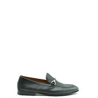 Doucal's Ezbc089048 Men's Black Leather Loafers