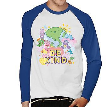 Care Bears Unlock The Magic Be Kind On Earth Men's Baseball Long Sleeved T-Shirt