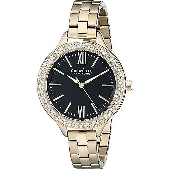 Caravelle Watch 44L126 - Plated Stainless Steel Ladies Quartz Analogue