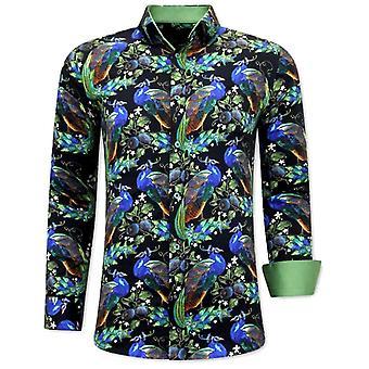 Iron-free Shirts - Green Black
