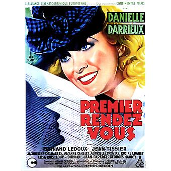 Her First Affair French Poster Danielle Darrieux 1941 Movie Poster Masterprint
