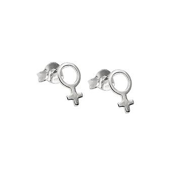 Stud Earring Female Silver 925