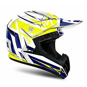 Airoh Switch Startruck Helmet Gloss Blue/Orange/Hi-Vis Yellow ACU Approved