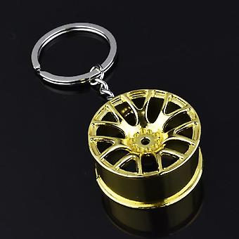 Luxury Wheel Hub Key Chain/zinc Alloy Tire Styling Car Key Ring Auto