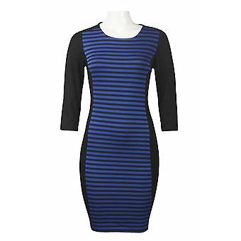 3/4 erme horisontal stripe ponte kappe kjole