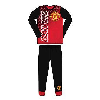 Manchester United FC Sublimaatio Tulosta Junior Kids Jalkapallo Pyjamas Punainen