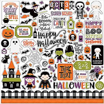 Echo Park Jeg elsker Halloween 12x12 tommers element klistremerke