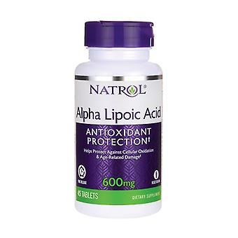 Alpha Lipoic Acid Time Release, 600mg 45 tablets