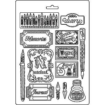 Stamperia Soft Mould A4 Inkt en etiketten