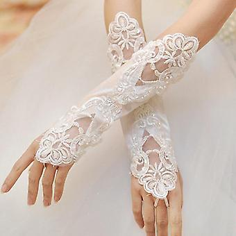 Wedding Gloves Women Fingerless Bridal Gloves Long Lace Gant Marriage Party