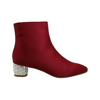 Betsey Johnson Womens Beau Suede Square Toe Ankle Fashion Boots