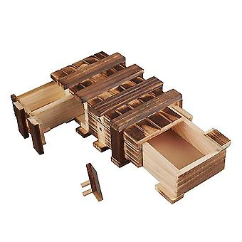 Amasawa wooden gift boxes, magic boxes, 2 compartments, coupons, creative gifts for jewelry and mone
