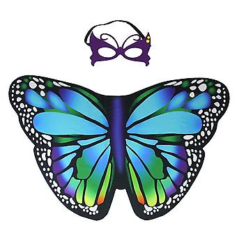 Irolewin kids cloak dreamy butterfly wings costumes cape--girls princess role cosplay fancy dress up