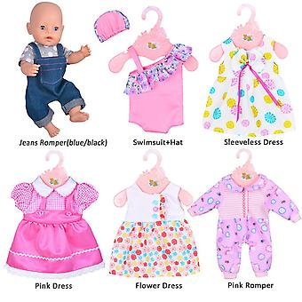 Ebuddy 6 sets doll clothes outfits for 14 to 16 inch new born baby dolls and for 18 inch american gi