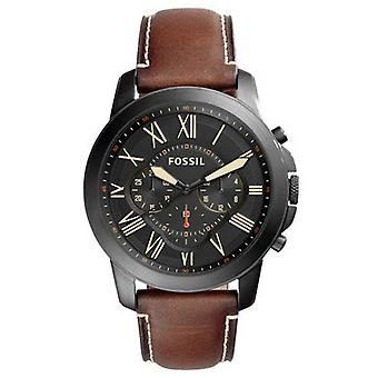Fossil FS5241 Black Dial Men's Chronograph Brown Leather Watch