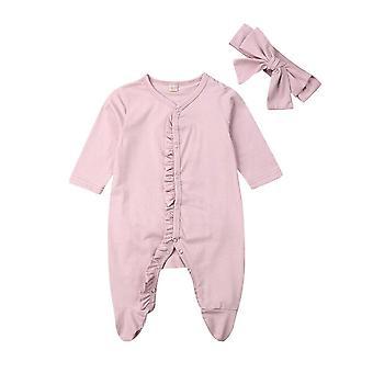 Νεογέννητο μωρό Footies Jumpsuit & κόμμωση