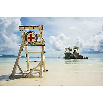 """رئيس الصليب الأحمر ليفيجواردينج على شاطئ بوراكاى """"بوراكاى باناي الفلبين بوستيربرينت"""""""