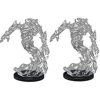 D&D Pathfinder Deep Cuts Unpainted Miniatures Medium Fire Elemental (Pack of 6)