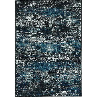 "5'3""X 7'7"" Grey or  Blue Polypropylene Rug"
